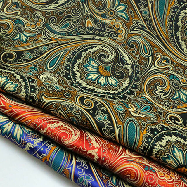 1m Floral Damask Jacquard Brocade Fabric DIY Material Cloth Sewing Costume Decor