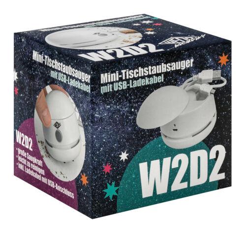 Ladekabel inkl 20520200 WEDO® Tischstaubsauger W2D2 ws wiederaufladbar USB