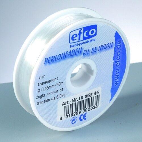 Perlonfaden Polyamid Faden transparent /& schwarz 100m Ø 0,15 /& 0,25 mm 0,02€//m