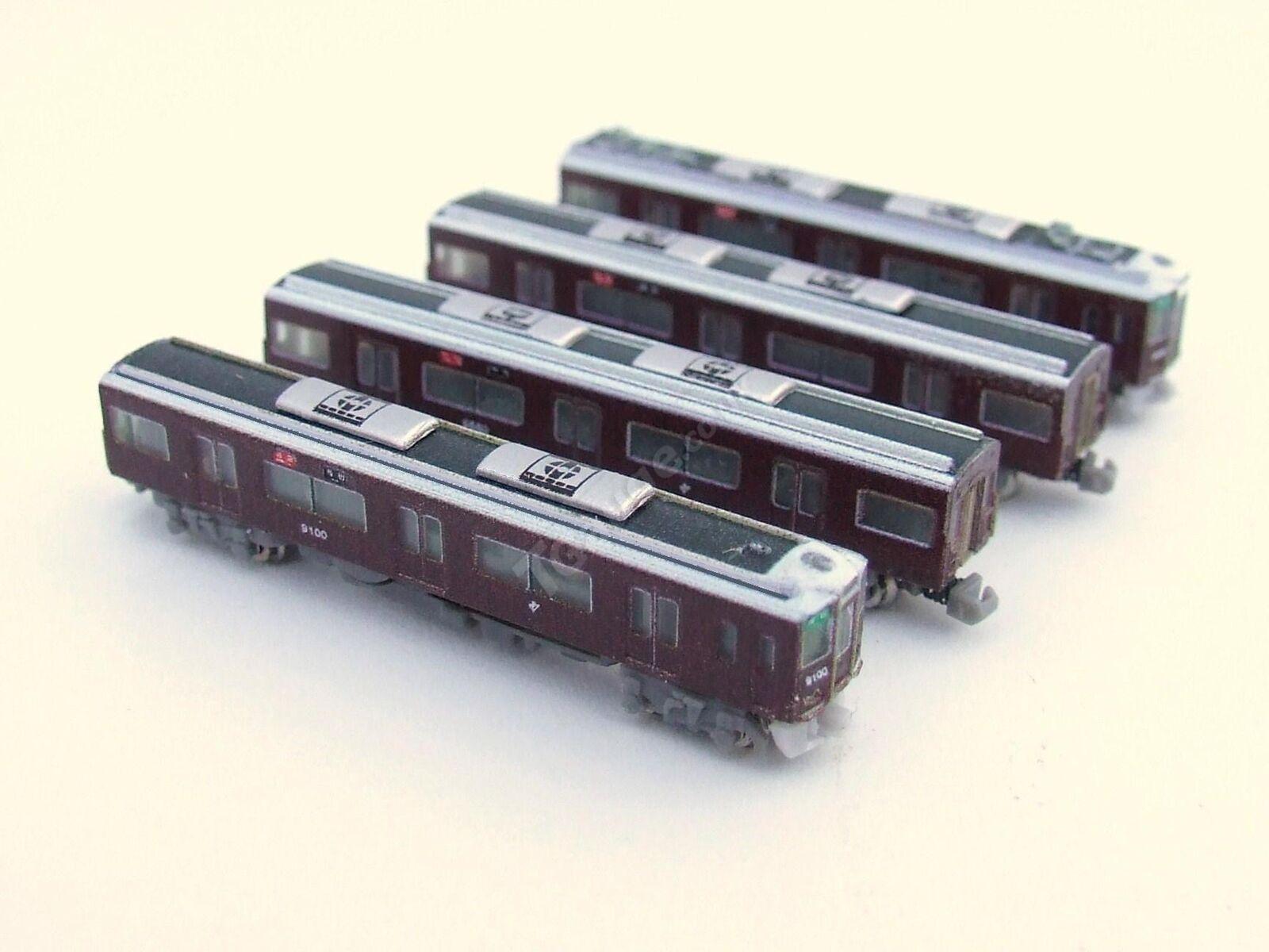 T Gauge 1 450 Scale Hankyu 9000 4 Car Set 010