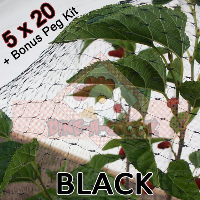 5mtr wide x20mtr  BLACK Anti Bird Netting, Fruit / Plant Tree Bird Netting / Net