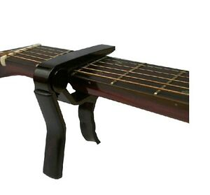 Black-Classic-Guitar-Ukulele-Tools-Quick-Change-Clamp-Key-Capo-Acoustic-Electric
