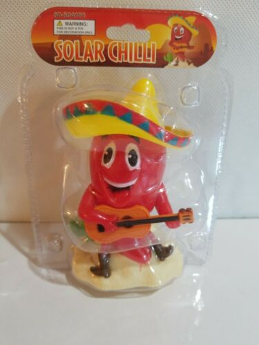 Solar Power Dancing California Mexican Hot Red Chille Pepper Bobblehead Toys New