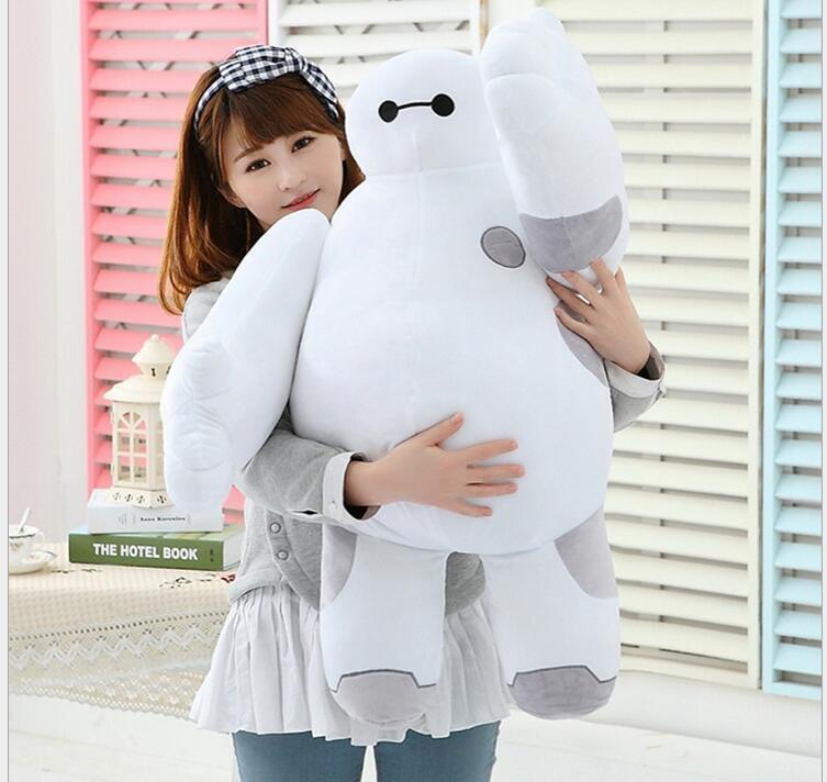 Baymax Robot Sitting Stuffed 32'' Big Hero 6 Pillow Plush Toy Doll Birthday Gift