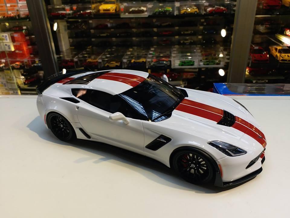 2018 Chevrolet Corvette C7 Z06 BLANCO GT Spirit Modelos 1/18 GT214