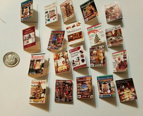 Miniature dollhousebook 1//12 Scale  Miniature Collector Magazine Chef