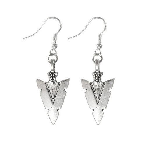 925 Sterling Silver Hooks Silver Alloy Native American Indians Arrow Earrings