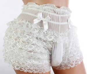 Sexy-lace-bikini-SISSY-POUCH-PANTIES-underwear-Crossdress-men-Sz-S-XXXL-K17