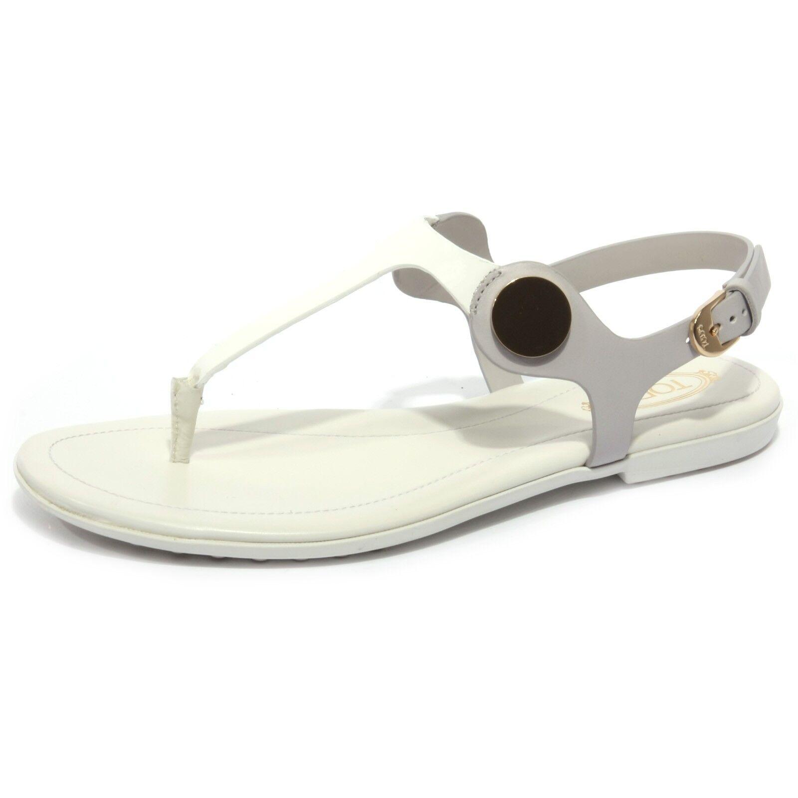 B1680 INFRADITO mujer Tod'S Sandalo gris using Ojotas Zapato Mujer