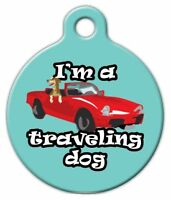 I'm A Traveling Dog - Custom Personalized Pet Id Tag For Dog And Cat Collars