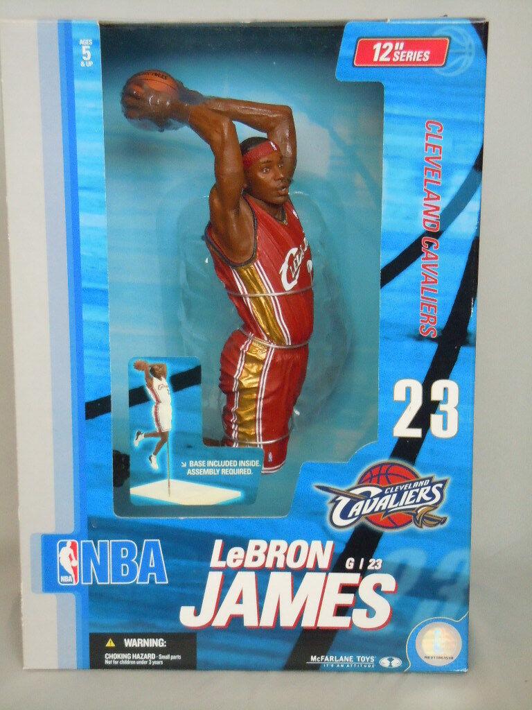 Mcfarlane CAVS de Lebron James  23 novato 2004 Rojo Uniforme 2nd NBA 12  figura _ en Caja Original