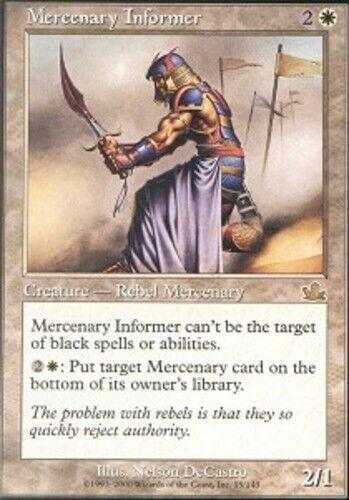 English Regular Mercenary Informer Prophecy magicmtg 4x NM-Mint