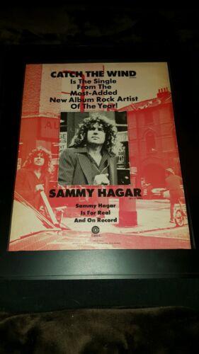 Sammy Hagar Catch The Wind Rare Original Promo Poster Ad Framed!