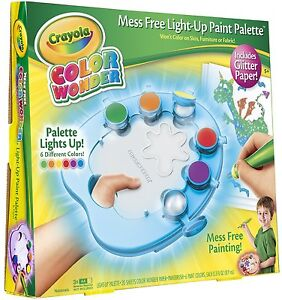 New Crayola Color Wonder Light Up Paint Palette With