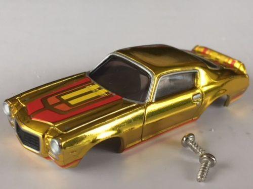 New Gold Chrome Tjet Chevy Camaro HO Slot Car Body Fit Aurora /& Dash Chassis