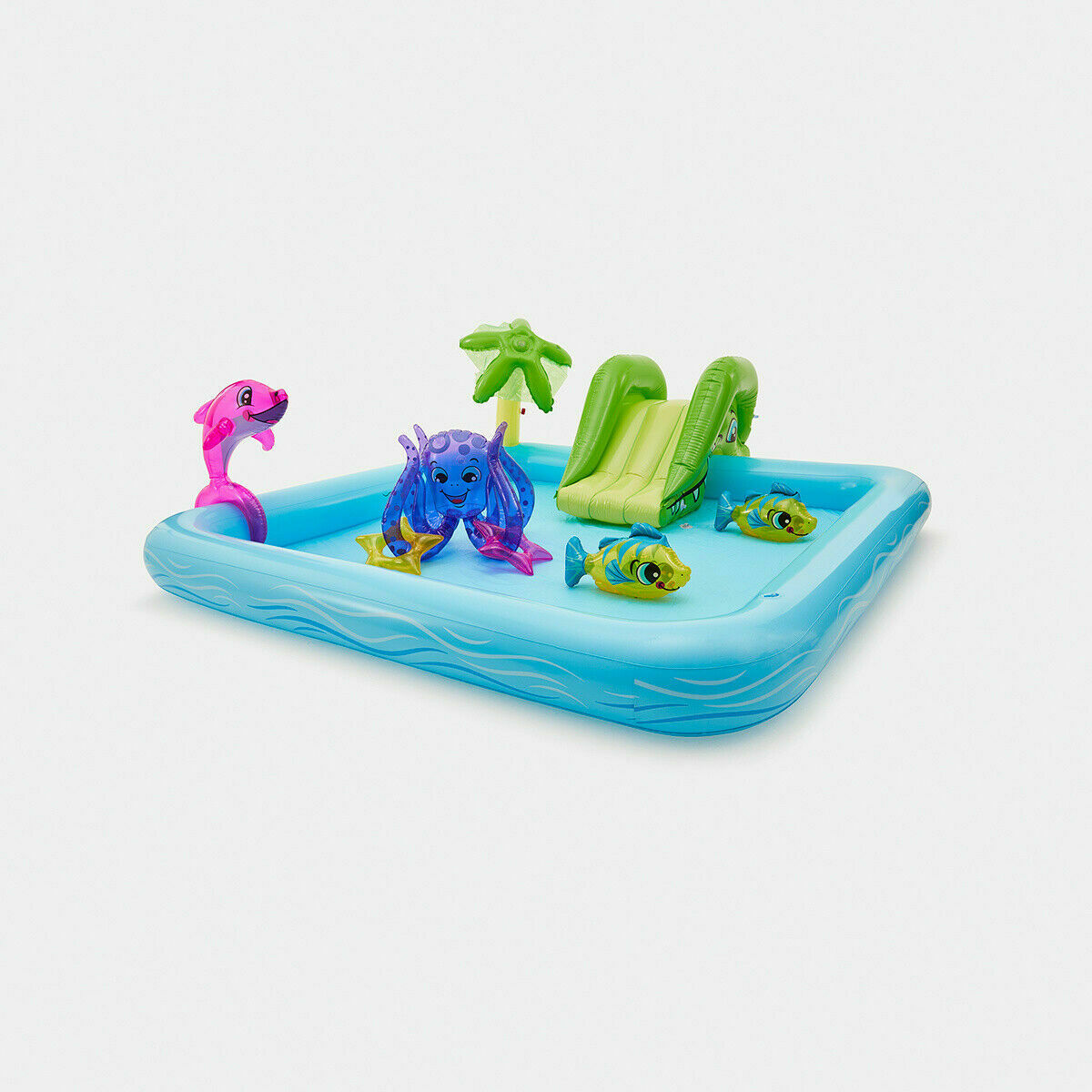 Inflatable Aquarium Play Pool Add A Splash Of Aquatic-Themed Fun To your Little