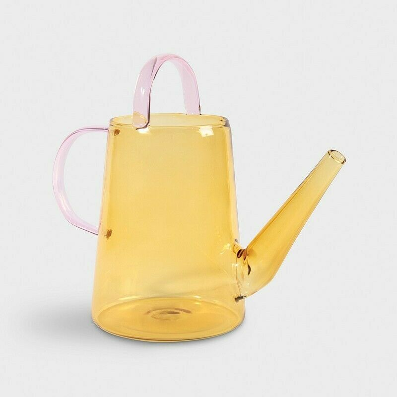 KLEVERING Glass Watering Can Loop Yellow