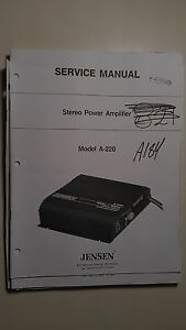 jensen-a-220-service-manual-original-repair-book-stereo-power-amplifier-amp
