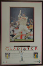 MATTHEW HAYDEN HAND SIGNED  GLADIATOR  LIMITED EDITION PRINT WITH CERTIFICATE