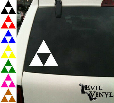 Zelda Triforce Decal Car Window Vinyl Legend Link Nintendo Wii Sticker ANY SIZE