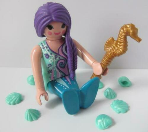 Playmobil Fairytale/Magie/Palais figure: violet/turquoise Sirène NEUF