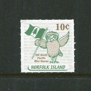2001 Norfolk Island Local Post Booklet Stamp - 10c South Pacific Mini Games