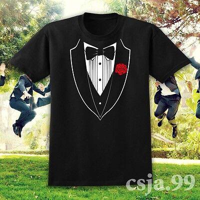 Funny TUXEDO Wedding Groom Prom Suit Costume T-Shirt Men's Party Gift Humor Tie