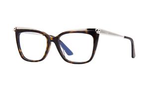 ba1e78194fc Cartier Eyeglasses CT0033O 002 53MM Havana And Silver Optical Frame ...