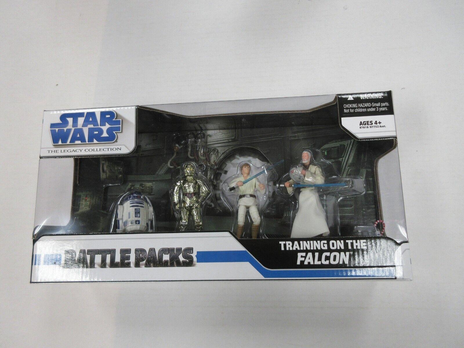 HASBRO Star Wars capacitación sobre la Falcon 4 Figura Set Nuevo en Paquete Sellado