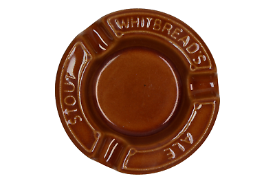Rational A Vintage Whitbread's Stout Ale Ashtray Regicor Breweriana, Beer London Collectibles