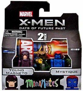 X-Men-Marvel-Young-Magneto-et-Mystique-Minimates-Figurine-Diamond-Select