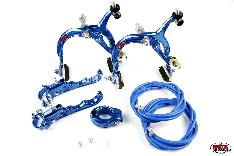 Genuine Dia-Compe MX1000 - - - MX120 - Dark blu Brake & Seat Clamp Set 4d9017