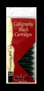 60-x-BLACK-MANUSCRIPT-INK-CARTRIDGES-INTERNATIONAL-SIZE-FOUNTAIN-PEN-MC0461CB