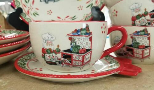 12 pcs H219282 Temp-tations Whimsy Christmas Holiday Dinnerware See the Cups