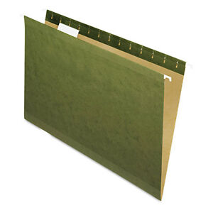 """Pendaflex X-Ray Hanging File Folders, 1/5 Tab, Legal, Standard Green, 25/box"""
