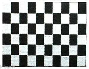 Black-and-White-Checkered-Racing-embroidered-Patch-5-034-x-4-034-13-x-10CM-approx
