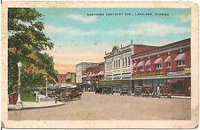 Northern Kentucky Avenue in Lakeland FL Postcard 1935