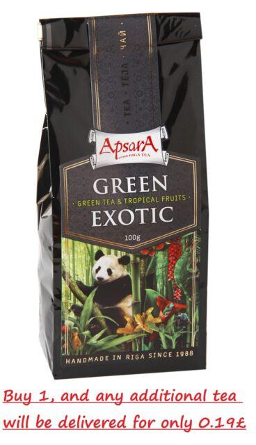 Apsara Green Loose Leaf Tea Sack 'Green Exotic' Bamboo leaves Orange 100g/3.53Oz