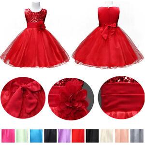 Enfants-fille-Pageant-mariage-demoiselle-d-honneur-formelle-robe-princesse-Jupe