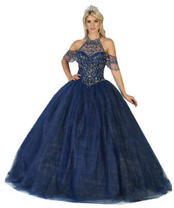 f5d17531afc63 Image is loading MASQUERADE-DESIGNER-SWEET-16-FORMAL-MILITARY-BALL-GOWNS-