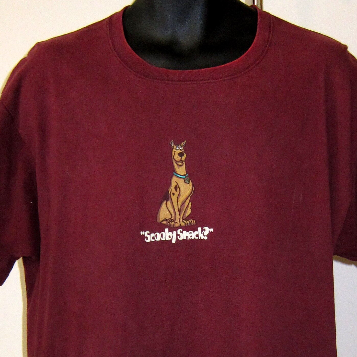 Vtg 1998 XL Scooby Doo Maroon Red T Shirt Warner Bros Studio Cartoon Network USA