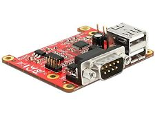 Delock Konverter Raspberry Pi USB Micro-B /Pin Header > 2 x USB A + RS-232 62649