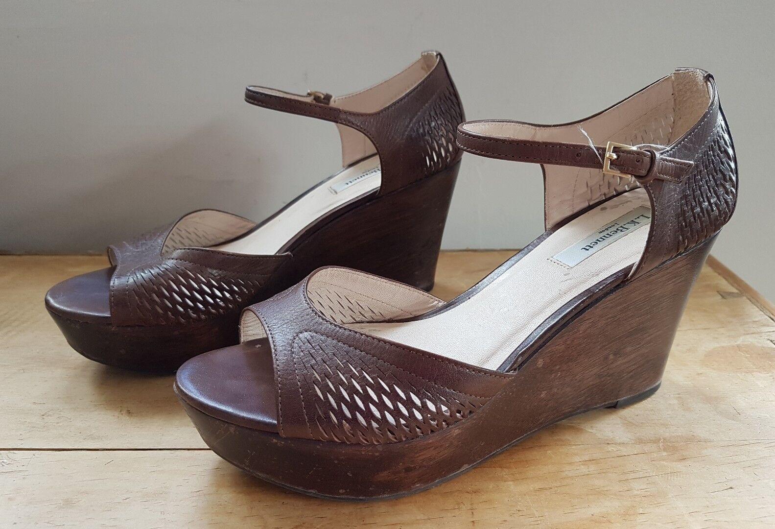 l k bennett platform wood wedge sandals brown wood platform 7 af881f