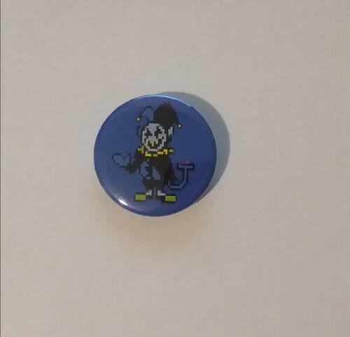 Size 1.25 Custom Handmade Deltarune Jevil Video Game Character Button Pin