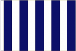 Navy Blue And White Striped 3/' x 2/' Sleeved Flag