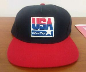 22f6e9a9ebb Supreme Dream Team USA Snapback Hat bogo box logo black red FW10 ...