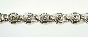 Bracelet silver odd shape circles chain