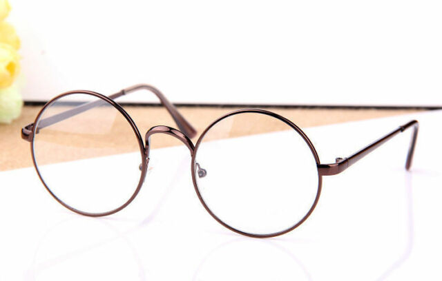 Retro Vintage Round Women Men Eyeglasses Frame Spectacles Plain Glasses Rx 2803