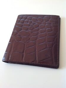 77a76f56d0 Image is loading Mulberry-Vintage-Brown-Congo-Leather-Bifold-Wallet-New