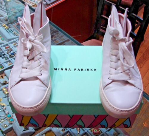 COOL Minna Parikka White Bunny Leather Sneakers Si